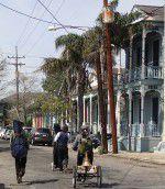 Musicians Walking in Marigny New Orleans