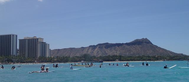 Diamondhead_View_from_Outrigger_Canoe_Waikiki_Ms_Traveling_Pants