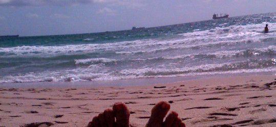 Ms Traveling Pants' Feet FtLauderdale