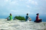 Top of Castle Point trail at Minnewaska