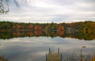 Heart Pond and dock