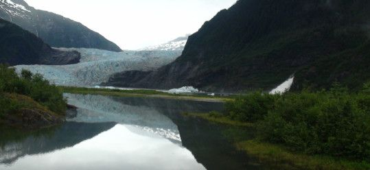 Mendenhall Glacier Reflected