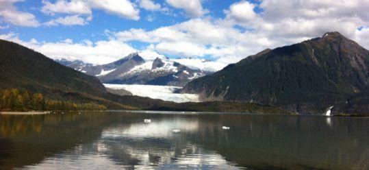 View of Mendenhall Glacier and Lake