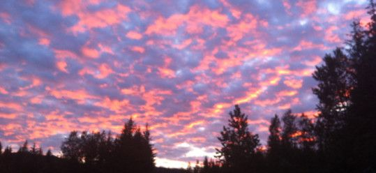 Beautiful Night Sky close to midnight Juneau June 2012