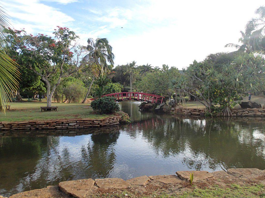 Amazingly kept gardens and ponds at Smith's Luau in Wailua, Kauai