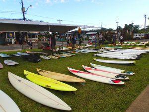 Surfboards_at_Hanalei_Surfboard_Swap_Hanalei_Kauai