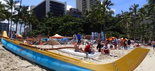 Hawaii Adventure Travel – Outrigger Canoe Ride Waikiki