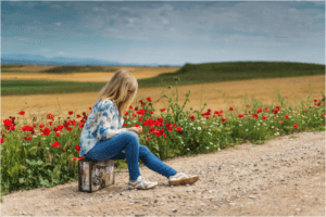 Kentucky_Road_Flowers_and_Girl